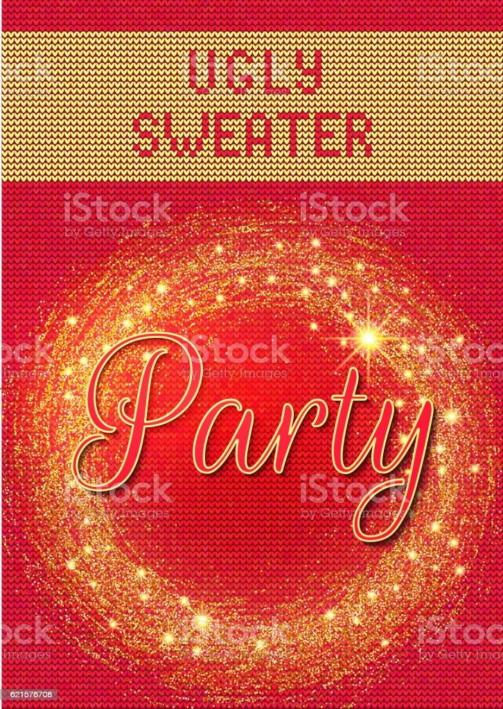 Knitted Ugly Sweater 1 knitted ugly sweater 1 – cliparts vectoriels et plus d'images de 2017 libre de droits