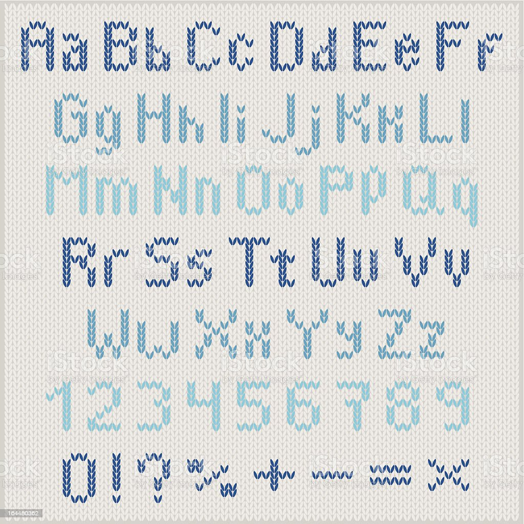 Knitted vector alphabet royalty-free stock vector art
