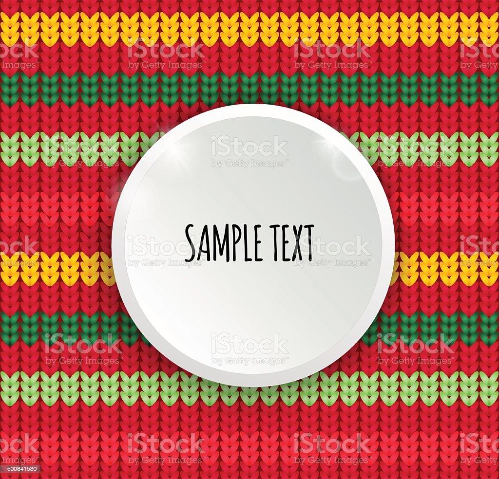 Patrón Sin Costuras De Knitter Con Lugar Para El Texto Botón Blanco ...