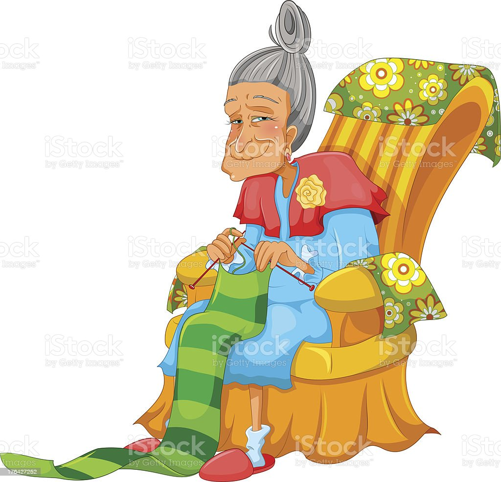 knitting granny royalty-free knitting granny stock vector art & more images of activity