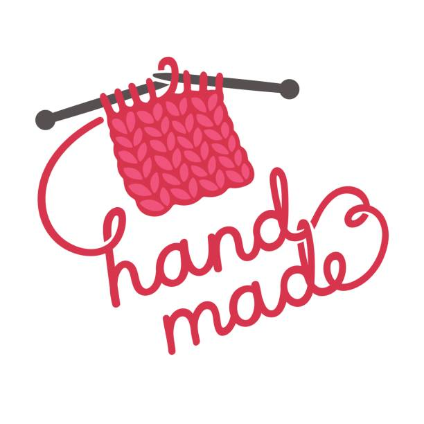 編み物手作りレタリング - 編む点のイラスト素材/クリップアート素材/マンガ素材/アイコン素材