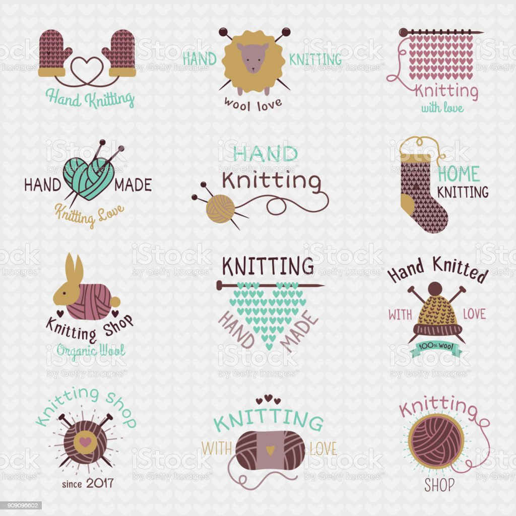 Knitting needles logo vector wool knitwear or knitted woolen socks logotype crocheting woolly materials and handknitting illustration isolated on white background knitting needles logo vector wool knitwear or knitted woolen socks logotype crocheting woolly materials and handknitting illustration isolated on white background - immagini vettoriali stock e altre immagini di a maglia royalty-free