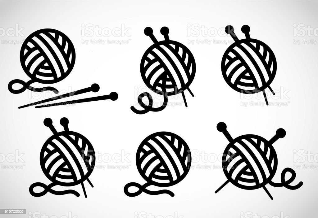 Knitting vector icon vector art illustration