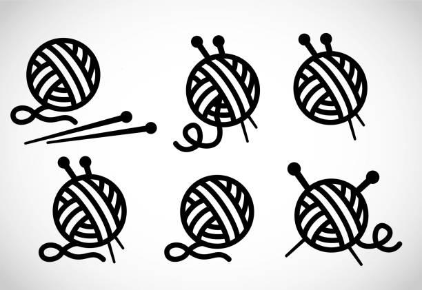 編み物ベクトル アイコン - 編む点のイラスト素材/クリップアート素材/マンガ素材/アイコン素材