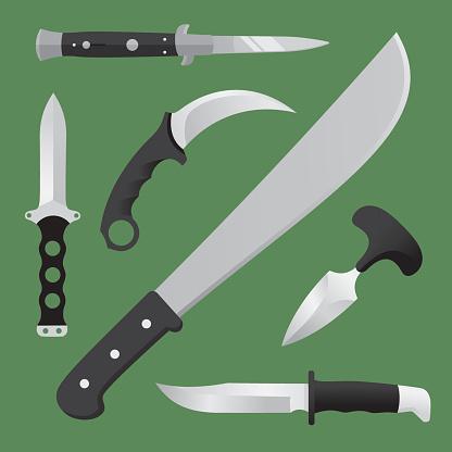 Knives Flat Set