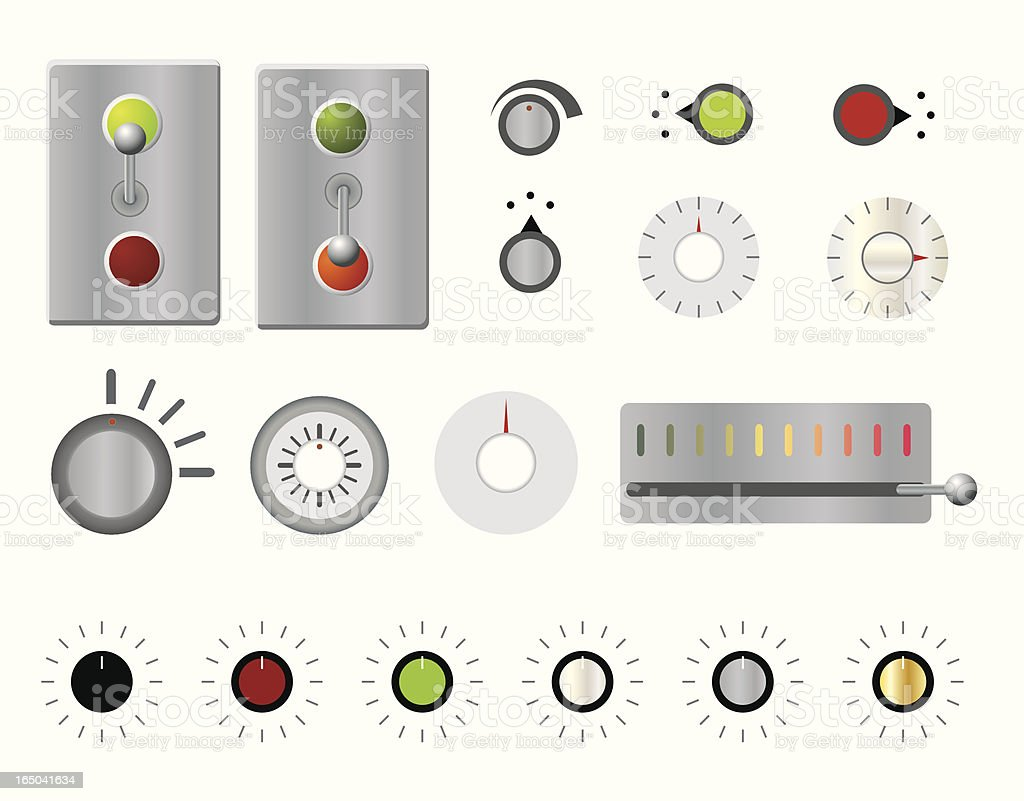 Knobs, Levers and Switches Oh My! (vector) royalty-free knobs levers and switches oh my stock vector art & more images of activity