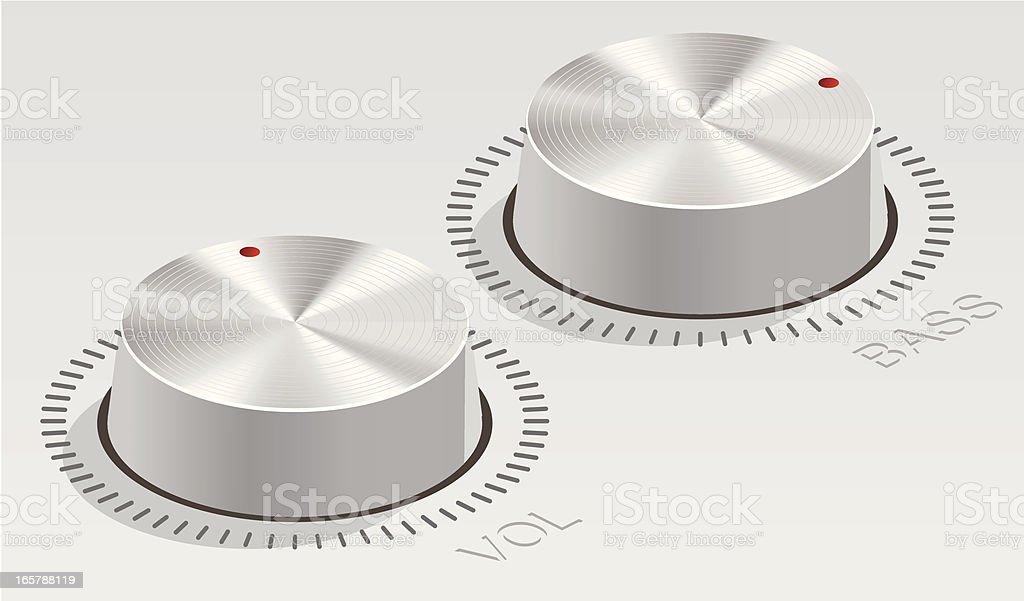 knobs royalty-free stock vector art