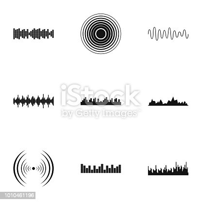 Knock icons set. Simple set of 9 knock vector icons for web isolated on white background