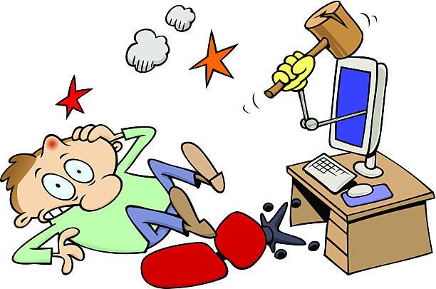 ich hab out computer guy - mauspad stock-grafiken, -clipart, -cartoons und -symbole