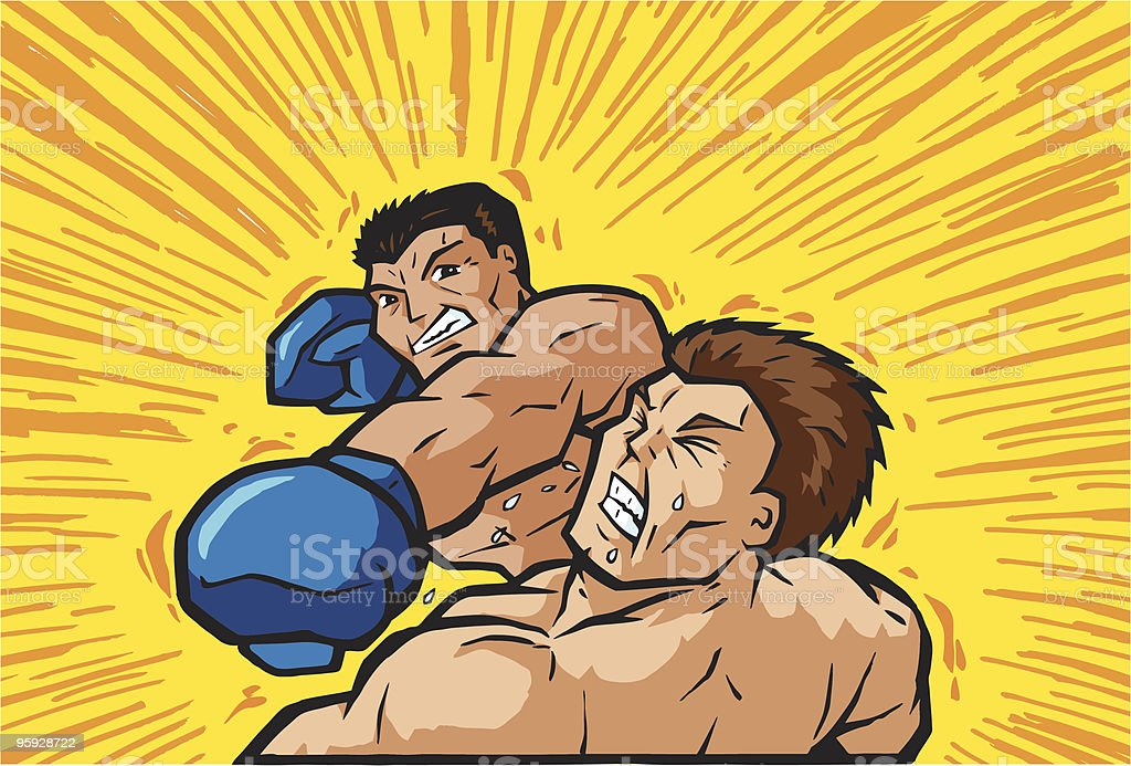 Knockout Punch vector art illustration