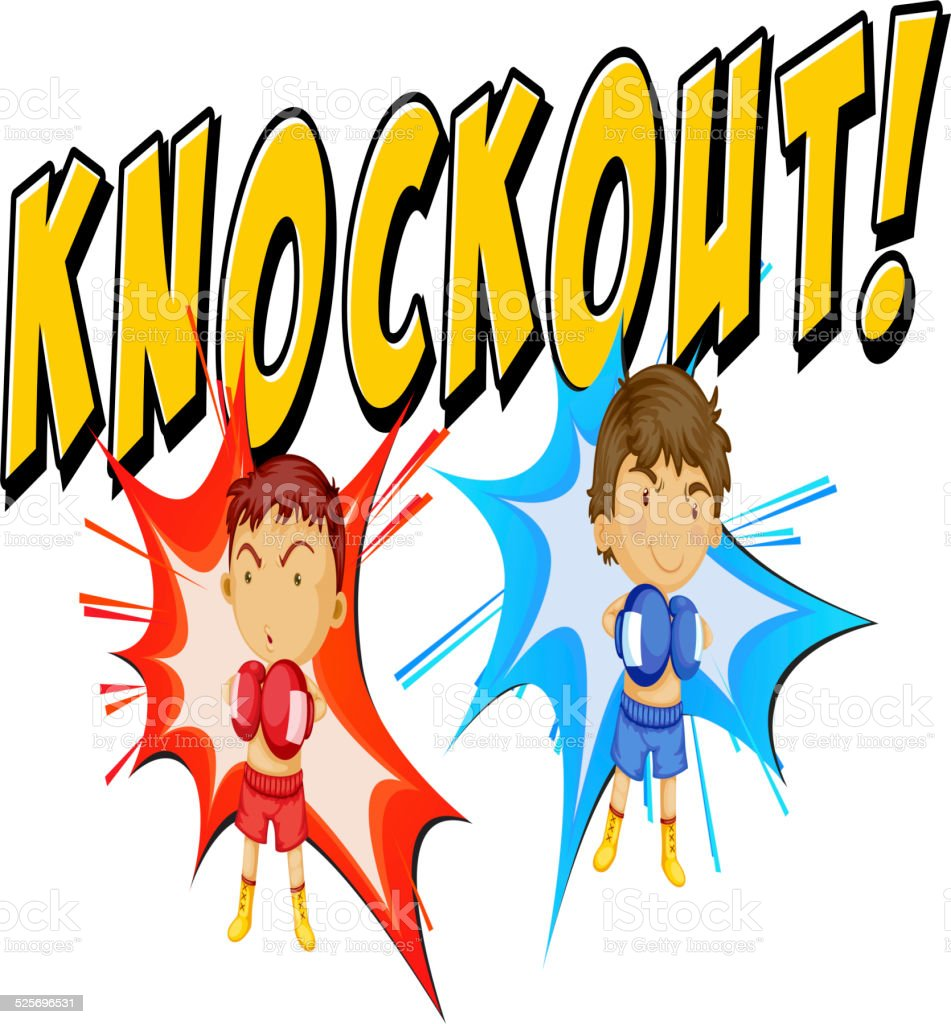 Knockout vector art illustration