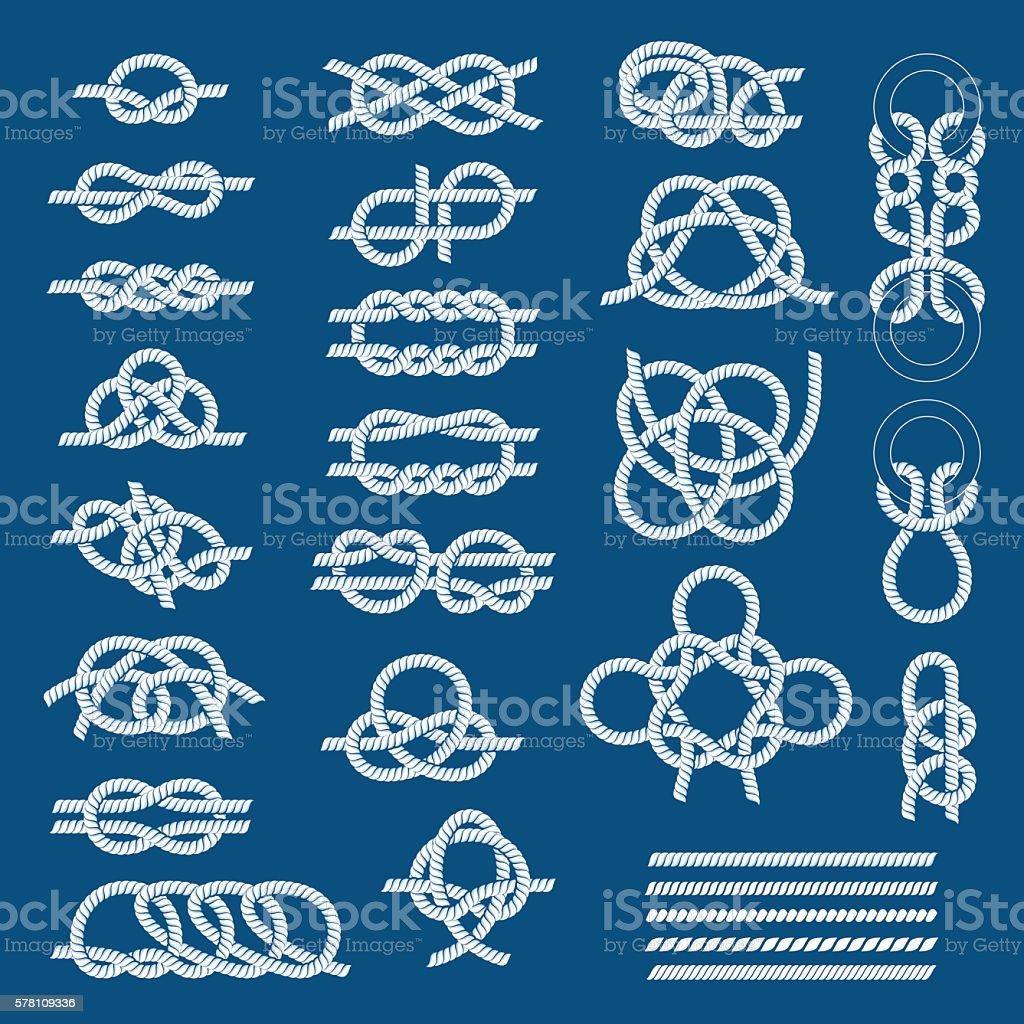Knots sea vector set