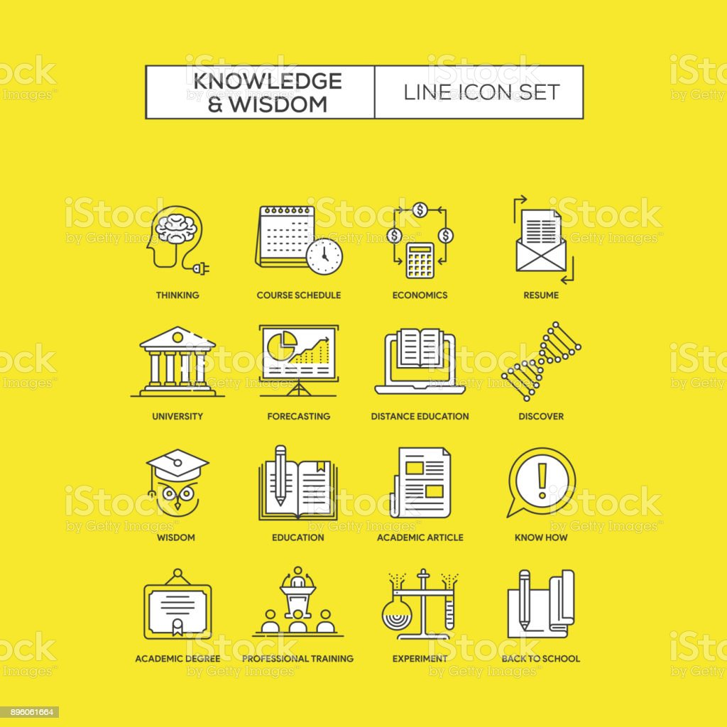 Knowledge And Wisdom Concept Stock Vector Art More Images Of