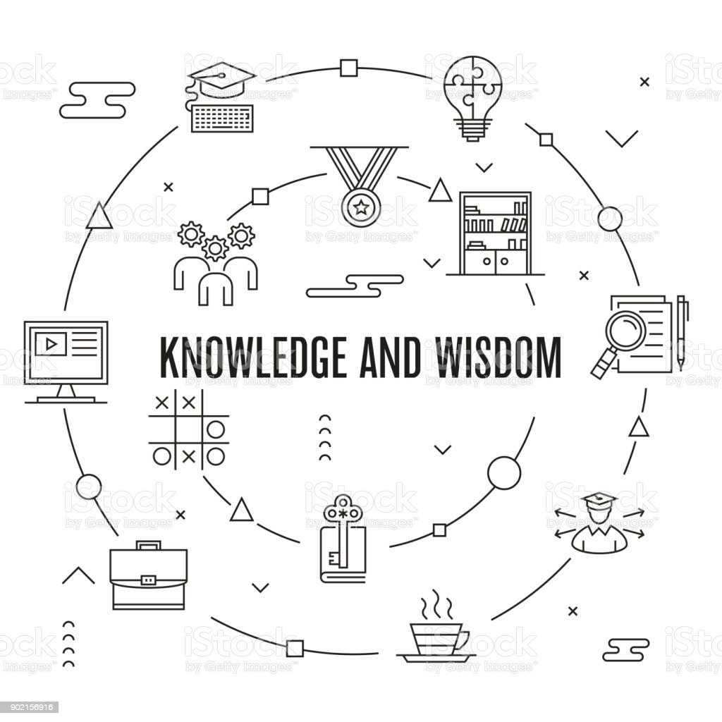 Knowledge And Wisdom Concept vector art illustration