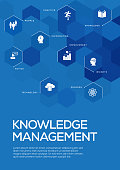 Knowledge Management. Brochure Template Layout, Cover Design