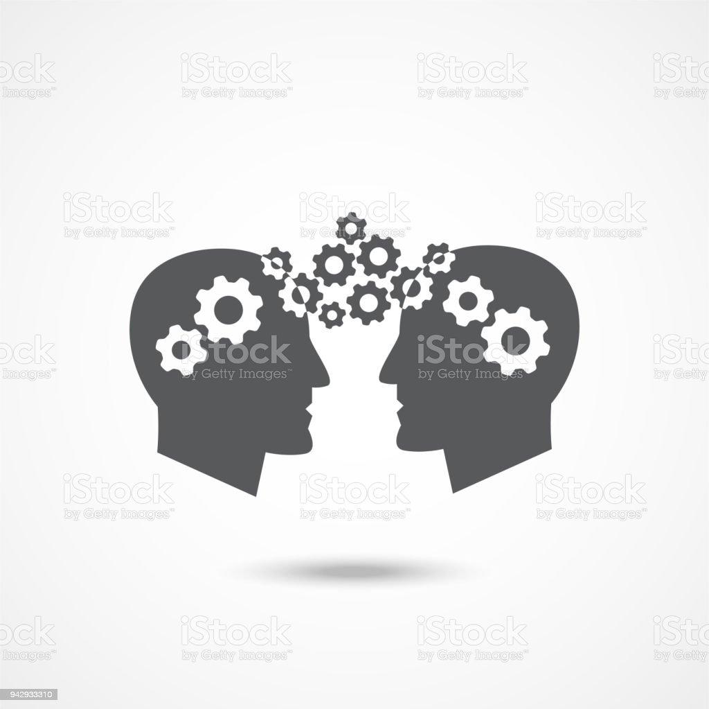 Knowledge Transfer Icon vector art illustration