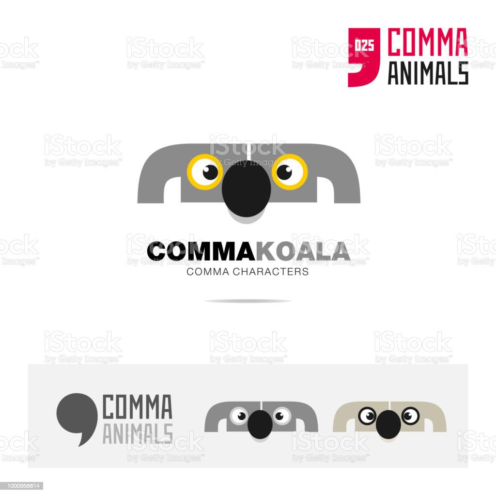 koala animal concept icon template for modern brand identity and app