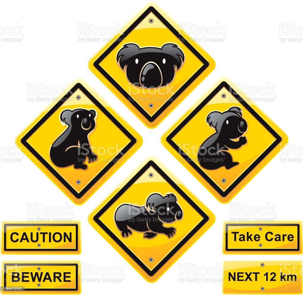 koala Animal  traffic sign vector art illustration