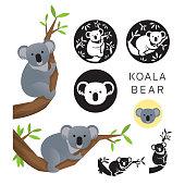 istock Koala Bear Vector Set 1001649260