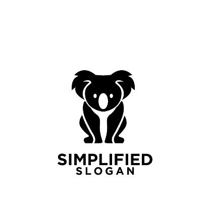 koala black symbol icon design vector