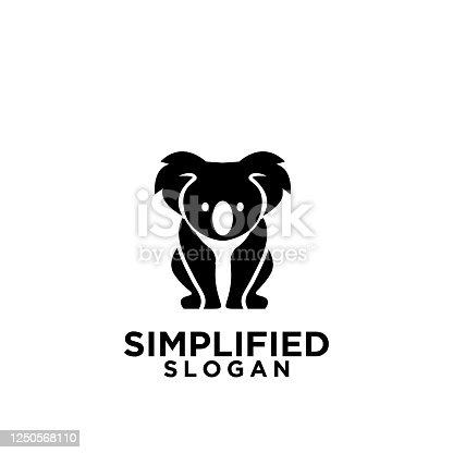 istock koala black symbol icon design vector 1250568110