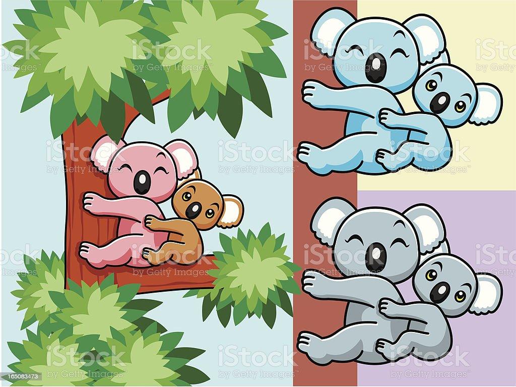 Koala Cartoon vector art illustration