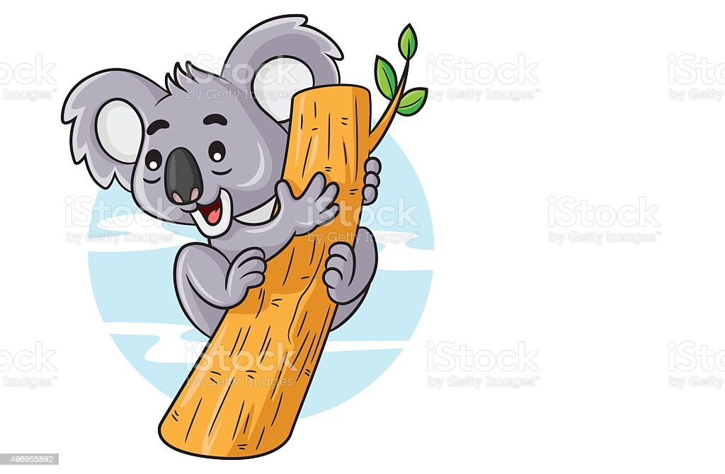 Koala Cartoon vector art illustration