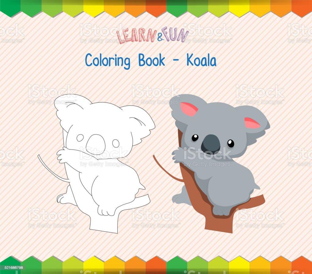 Koala coloring book educational game