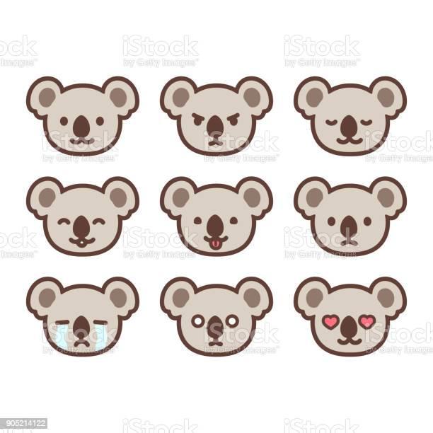 Koala emoticon set vector id905214122?b=1&k=6&m=905214122&s=612x612&h=95owvvase4wssey9q9o8eftmdk7xg2bbxsgsdfa7dve=