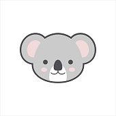 Koala face logo