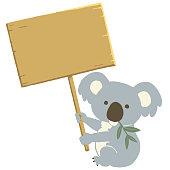 istock Koala holding a signboard. 1203160444