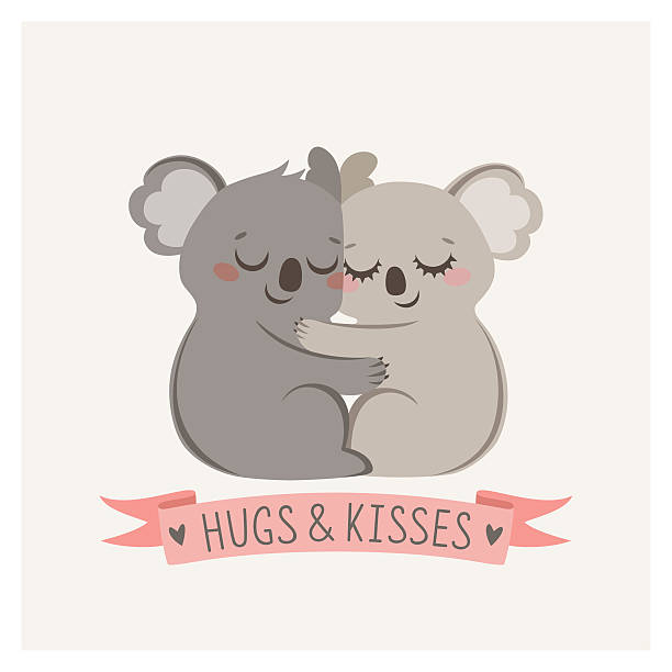 koala hug - koala stock illustrations