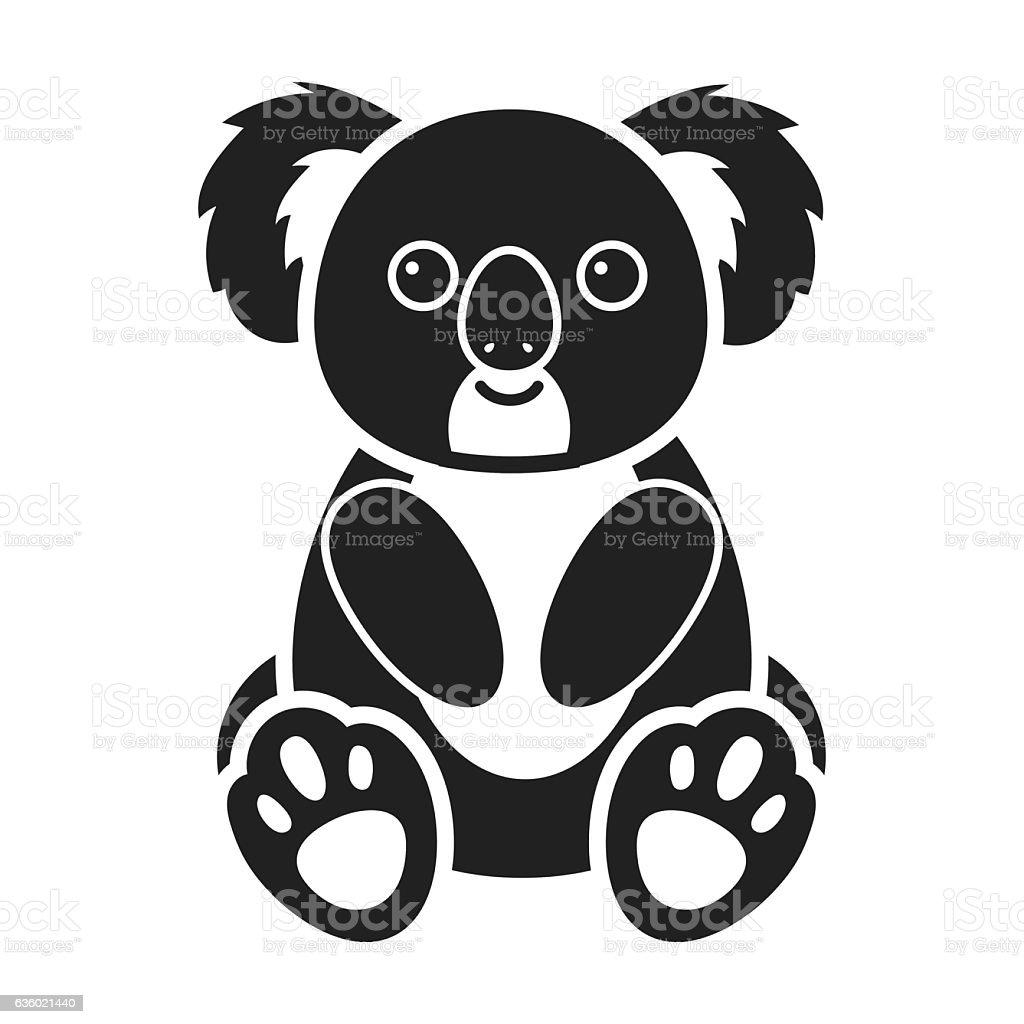 Koala icon in black style isolated on white background animals royalty free koala icon