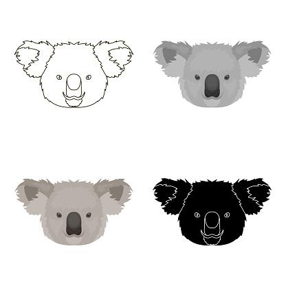 Koala Ikonen I Tecknad Stil Isolerad På Vit Bakgrund Realistiska Djur Symbolen Lager Vektor Web Illustration-vektorgrafik och fler bilder på Australien