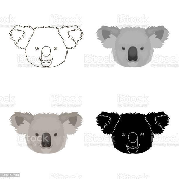 Icona Koala In Stile Cartone Animato Isolata Su Sfondo Bianco Animali Realistici Simbolo Stock Vettore Illustrazione Web - Immagini vettoriali stock e altre immagini di Albero
