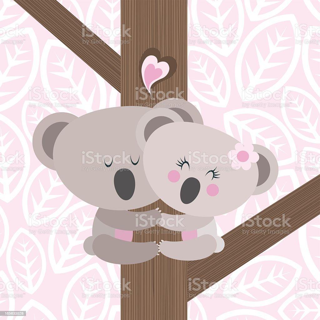Koala love climbing illustration vector bear royalty-free stock vector art
