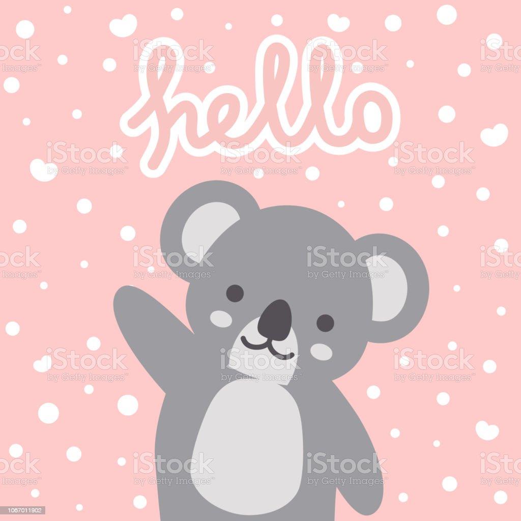 Koala Vector Print Baby Shower Card Stock Illustration Download Image Now Istock