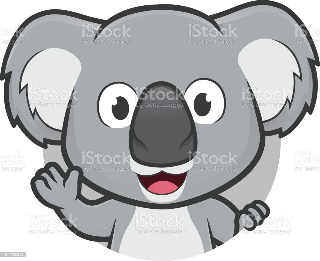 Koala Im Runden Rahmen Stock Vektor Art und mehr Bilder von ...
