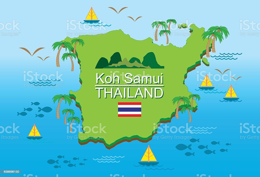 Kohsamui Island Thailand Stock Vector Art More Images of Asia