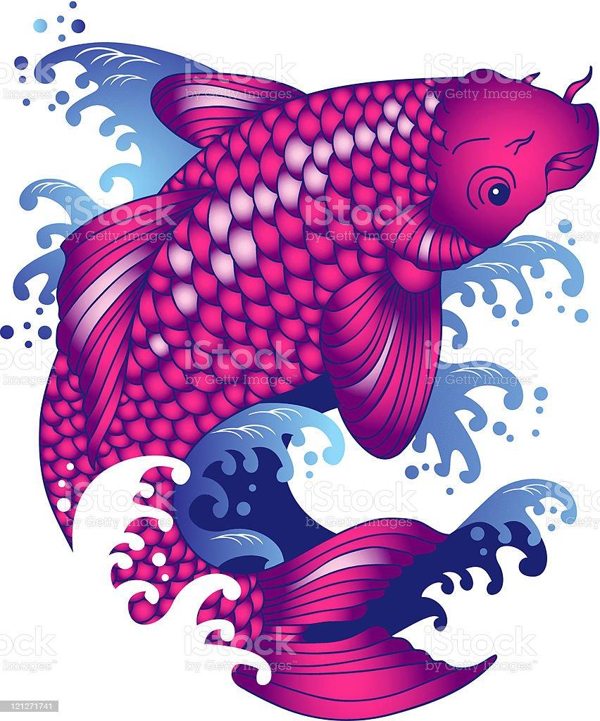 Koi Carp Tattoo Stock Illustration Download Image Now
