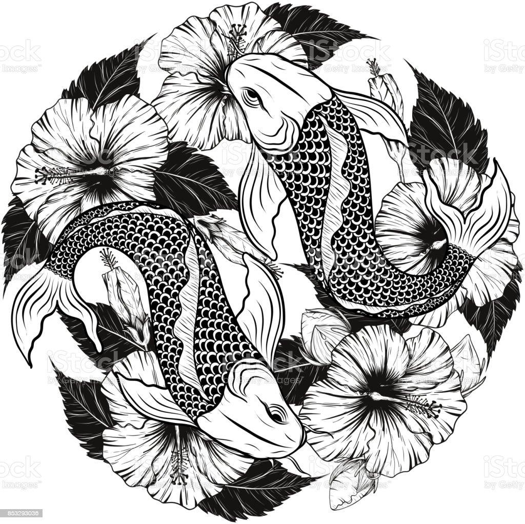 Pez Koi para colorear t Tatuajes Dibujo y Dibujos