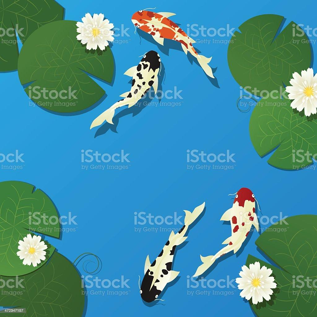 Koi Fish And Lotus Stock Vector Art More Images Of Animal