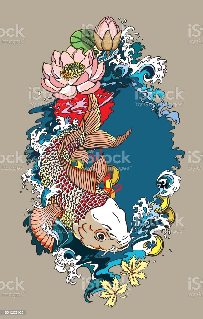 koi fish illustration royalty-free koi fish illustration stock vector art & more images of animal