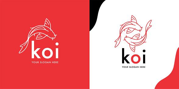 Koi Fish logotype template
