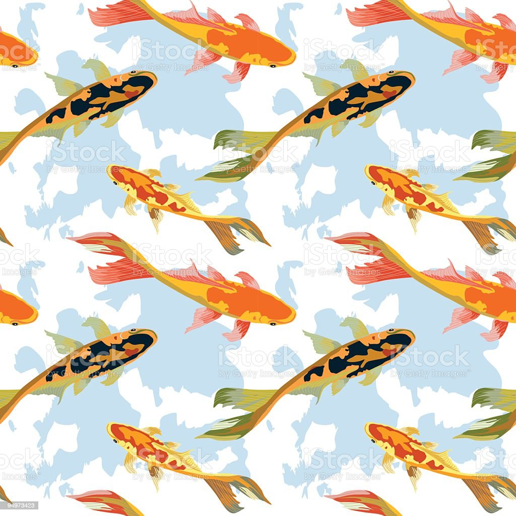 Koi fish repeating pattern stock vector art more images for Koi fish images