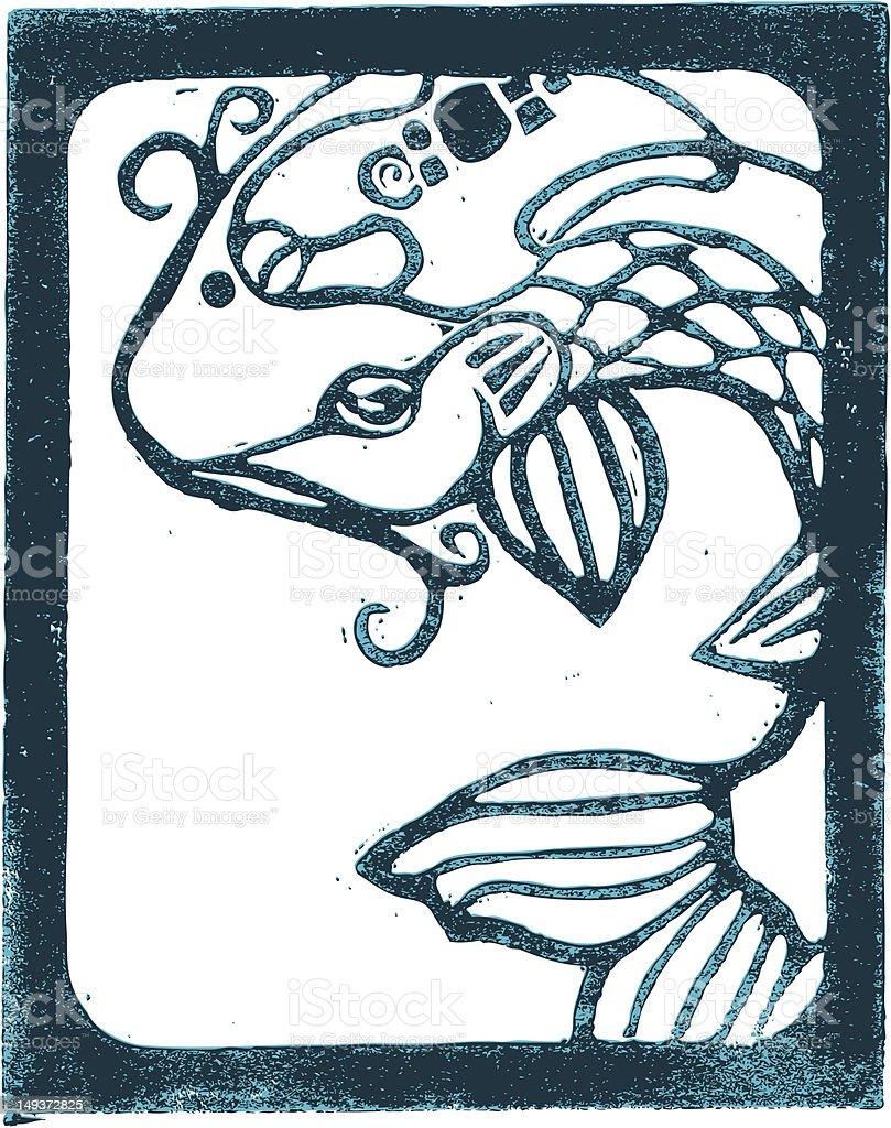 Koi fish royalty-free stock vector art