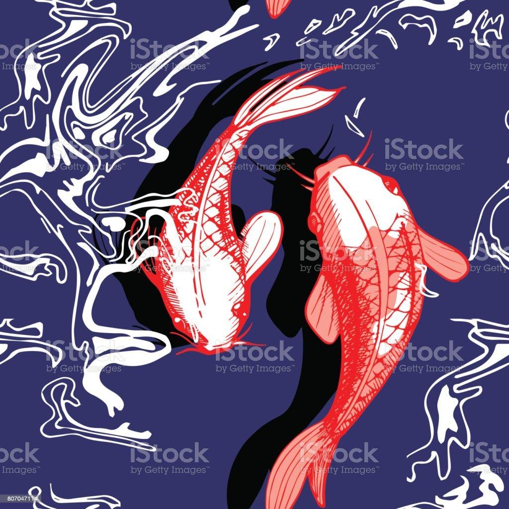 Koi fish vector illustration vector art illustration