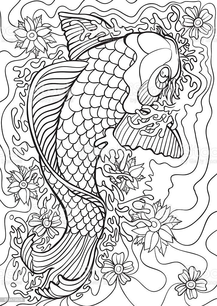 Ilustración de Peces Koi y más banco de imágenes de Adulto 513473526 ...