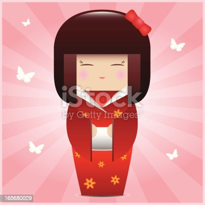 istock Kokeshi Doll 165680029