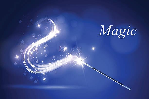 kolorful zauberstab - magie stock-grafiken, -clipart, -cartoons und -symbole